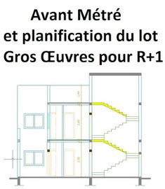 Avant Métré et planification du lot Gros Œuvres d'une R+1 Planning Gantt, Plan Autocad, Word Doc, Architecture Plan, Civilization, Management, Floor Plans, Layout, How To Plan