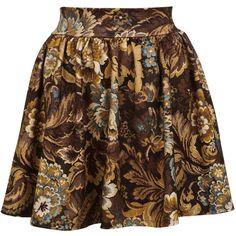 Tapestry Skater Skirt ($57) ❤ liked on Polyvore