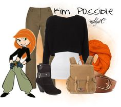 """Kim Possible Inspired Outfit"" by rubytyra on Polyvore"