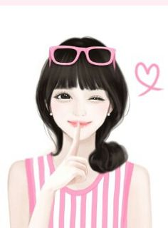 "Animated gif shared by ""♡""💋. Find images and videos about girl, love and cute on We Heart It - the app to get lost in what you love. Korean Illustration, Cute Illustration, Korean Anime, Lovely Girl Image, Cute Cartoon Girl, Stylish Girl Pic, China Girl, Glitter Graphics, Cute Korean"
