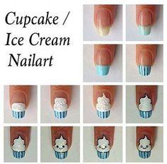 Ice Cream/Cupcake Nail Art Tutorial.