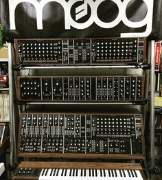 We love guitars, but this is the coolest thing we have ever sold. This is a #moogmusic System 55 Modular with the Compliment B sequencer and 953 keyboard that our customer just received. It really doesn't get any better than this! #synths #synthesizers #analog #synthtopia #moog #modular #gearporn #instamoog