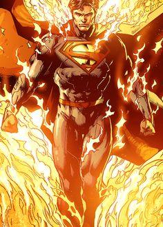 """"""" Superman in Justice League """" Marvel Comics, Hq Marvel, Dc Comics Heroes, Arte Dc Comics, Dc Comics Characters, Arte Do Superman, Mundo Superman, Superman Artwork, Batman Vs Superman"""