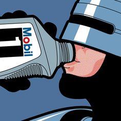 Robocop drinking - Grégoire Guillemin
