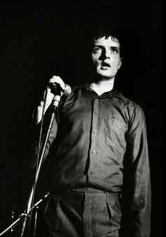 Joy Division, Ian Curtis at The Factory Club, photo by Kevin Cummins,Manchester, 1979