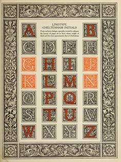 The manual of linotype typography, prepared to aid users and producers of printing in securing greater unity and real beauty in the printed page; Typography Logo, Typography Design, Branding Design, Alphabet Art, Calligraphy Alphabet, Illuminated Letters, Illuminated Manuscript, Illumination Art, Decorative Borders