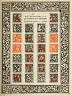 The Manual of Linotype Typography. Linotype Cheltenham Initials. [Pinned 7-iii-2015]