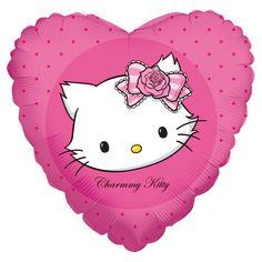 Fóliový balónek Kitty srdce 45cm | BALONKY .CZ