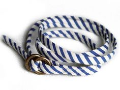 Kiel James Patrick  |  Kaspicks Sail Charts  $40  |  Archer Wrap - Revering the construction of the classic hand-sewn necktie, this bracelet borrows similar elements of a haberdasher's superior bold fabrics, delicate craftsmanship and exquisite personality.