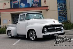 California-based tuning specialist West Coast Customs will modify just about anything on four wheels when commissioned, so its no surprise they have a few trucks in their showrooms. Vintage Pickup Trucks, Classic Ford Trucks, Ford Pickup Trucks, Old Trucks, 1956 Ford Truck, West Coast Customs, Muscle Truck, Dropped Trucks, Panel Truck