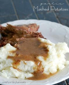 You will not miss the loads of butter in these Garlic Mashed Potatoes. They are simply delicious!