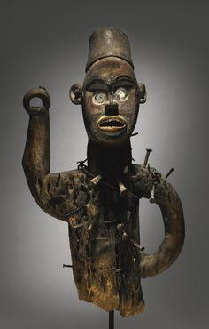 "KONGO-YOMBE POWER FIGURE OF THE NAME ""MANANGUNA"", DEMOCRATIC REPUBLIC OF THE CONGO the number '429' painted on the reverse. Height: 24 3/4 i..."