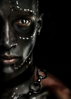 ♂ man portrait face black