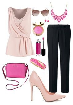 Mixed Pink Professional by ohsosara64 on Polyvore featuring polyvore, fashion, style, Anna Field, Uniqlo, Sequin, Panacea and clothing