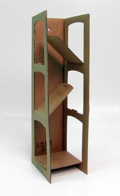Art Ed Central loves One piece of cardboard, collapsible shelving...for display/height space! Art show?