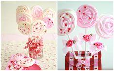 Decoração para mesa dos convidados para festa infantil com centros de mesa de doces
