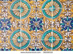 Spanish Inspired Tile Vintage Colors Bungalow Color Wall