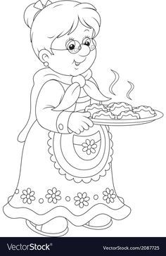 Babička Stock vektory, Royalty Free Babička Ilustrace - Page 6 Colouring Pages, Coloring Books, Grands Parents, Butterflies Flying, Christmas Coloring Pages, Doodle Designs, Grandparents Day, Digi Stamps, Christmas Colors