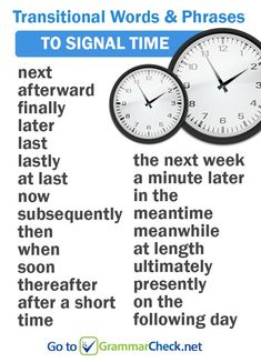 Transitional words and phrases to signal time Englishgrammar Englishvocabulary amwriting 733875701756716039 English Vocabulary Words, Learn English Words, Grammar And Vocabulary, English Idioms, English Writing, English Study, English Lessons, English Grammar, English Phrases