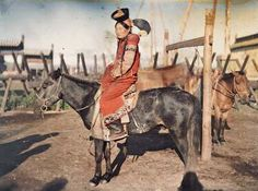 Mongolia: On his first trip through Mongolia, Stéphane Passet spent four days exploring villages. He returned a year later in 1913 and framed an elegantly dressed aristocratic woman with horses, which were integral parts of the nomadic culture.