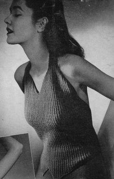 Free vintage halter top knitting pattern