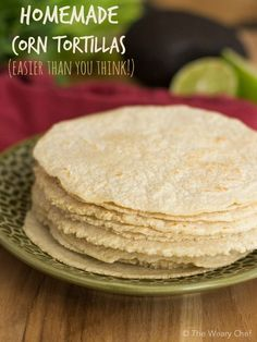 Cook up a stack of warm, fresh homemade corn tortillas in only about 15 minutes!