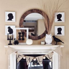 Halloween Mantle Inspiration ~ Live-Love-Be Well
