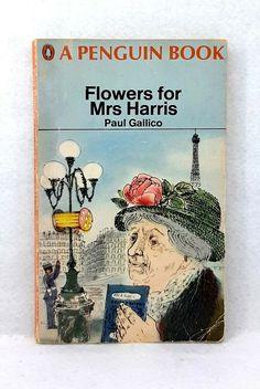 Flowers for Mrs.Harris by Paul Gallico vintage paperback 1968 Penguin novel Rolf Harris, Vintage Penguin, Book Flowers, The Godfather, Penguins, Novels, Ebay, Small Bookcase, Reading