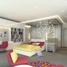 Fancy Neat Colorful Bedroom Design