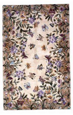 Sapphire Rugs Sapphire Floral Handmade Wool Multi Rug