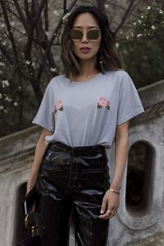 Leather Pants & NEW Two Songs Tee   Song of Style