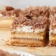 3 Bit - No Bake Graham Cracker Layer Cake Polish Desserts, Polish Recipes, Polish Food, Sweet Recipes, Cake Recipes, Dessert Recipes, Vanilla Pudding Cake, All You Need Is, Pie Dessert