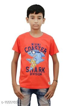 Tshirts & Polos Elegant Cotton Knitted Boy's T-shirt  *Fabric* Cotton Knitted  *Sleeves* Half Sleeves Are Included  *Size* Age Group (2 - 3 Years) - 20 in Age Group (3 - 4 Years) - 22 in Age Group (5 - 6 Years) - 24 in Age Group (7 - 8 Years) - 26 in Age Group (9 - 10 Years) - 28 in Age Group (10 - 11 Years) - 30 in Age Group (11 - 12 Years) - 32 in Age Group (12 - 13 Years) - 34 in  *Type* Stitched  *Description* It Has 1 Piece Of Boy's T-shirt  *Work* Printed  *Sizes Available* 2-3 Years, 3-4 Years, 5-6 Years, 7-8 Years, 8-9 Years, 9-10 Years, 10-11 Years, 11-12 Years, 12-13 Years *    Catalog Name: Stylo Bug Amazing Cotton Knitted Boy's T-shirts Vol 4 CatalogID_127840 C59-SC1173 Code: 091-1050165-