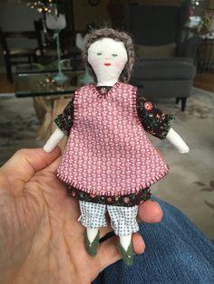 Ann Wood tiny rag doll