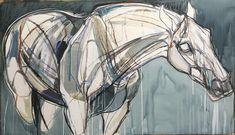 The Big x Mixed media on paper Horse Drawings, Animal Drawings, Art Drawings, Horse Sketch, Horse Illustration, Art Courses, The Draw, Equine Art, Horse Art