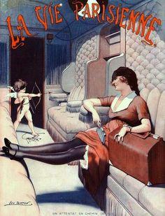 Fontan, Leo (b,1884)- Planning Ahead- 'La Vie Parisienne', Oct. 1921 -2b
