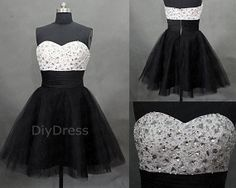 Princess Strapless White Bodic Short Homecoming by DiyDress, $159.99