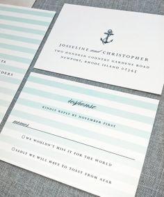 Josseline Nautical Wedding Invitation Sample by CricketPrinting