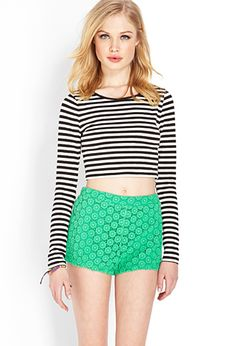 Retro Crocheted Shorts | FOREVER21 - 2000107643