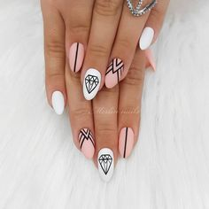 Nails White Design Create your unique manicure using white nail polish and our ideas With Unique Design With White And Pink Nails Picture Credit summernails nailsart nailsdesign nailartdiy nailartgallery nailartideas fakenails nailfashion nud Nail Pictures, Nail Designs Pictures, Diy Nail Designs, Acrylic Nail Designs, Gel Manicure Designs, Diamond Nail Designs, Blog Designs, Cute Summer Nail Designs, Cute Summer Nails