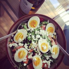Totally just had a salad like this! Yum!