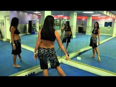 Large Hip circle - hip rotation belly dance move - clearly broken down by Nuala