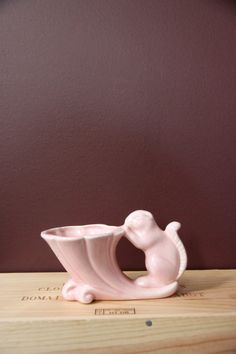 Vintage Pink Squirrel Planter   Vintage Photo Props by MakingPies