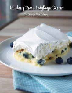 Blueberry Peach Ladyfinger Dessert