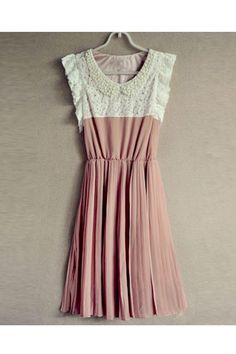 Pearl Embellished Pleated Mini Dress