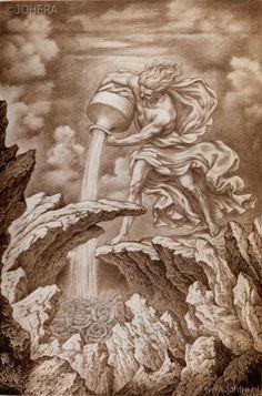 Aquarius Art, Aquarius Tattoo, Le Zodiac, Eagle Images, Tarot, Esoteric Art, Wild Tattoo, Occult Art, Cool Art Drawings
