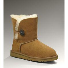 Die neue Kollektion von Kids UGG Bailey Button Boots 5991 Chestnut