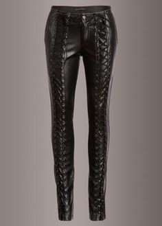Channel your inner rockstar!! These badass pants by Punk Rave are made out of soft black vegan leather and will be sure to steal the show! These bad boys have a skinny fit and a rad laced up design al