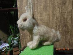 Кролик, игрушка ручной работы, фелтинг