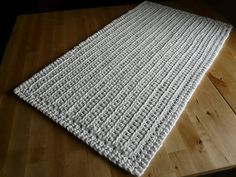 Rug, made out of recycled T-shirt yarn.